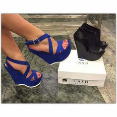 ❤️these blue wedges