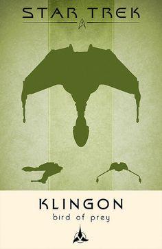 Klingon Bird Of Prey, Star Trek Poster by Thomas Gately