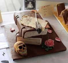 awesome book cake