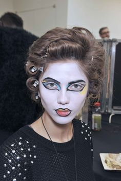 Vivienne Westwood - Val Garland gave each model a unique look - very graphic  and avant garde