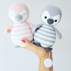 Crochet instructions for a Penguin game clock and Teddy to snuggle up