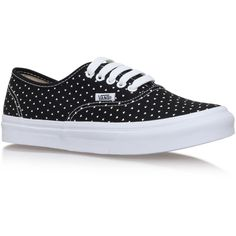 Authentic Slim Vans Black/Other (€76) ❤ liked on Polyvore featuring shoes, sneakers, black low top sneakers, vans trainers, vans shoes, black shoes and low tops