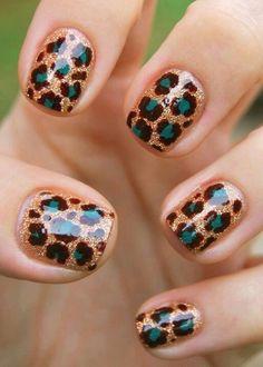 Perfect for Jaguar Fans-Nail polish art