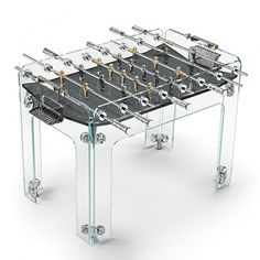 Gabriele Adriano and David Adriano, Cristallino Gold Limited Edition Foosball Table, for Teckell