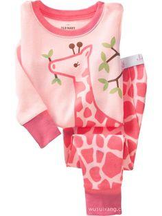 Gprince Children Unisex Home Furnishing Cotton Cartoon Printed Pajamas Set Cute Soft Long Sleeve Nightgown