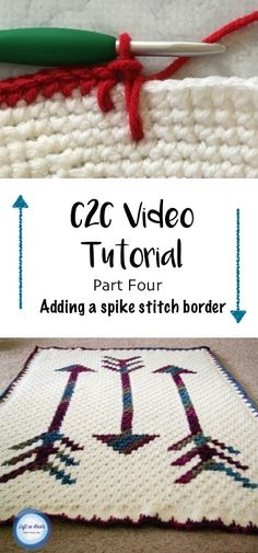 This video tutorial will teach you the stitch using half double crochet. Learn how to add a SC and spike stitch border to your graphgan. This tutorial was created to support my Fallen Arrows Blanket CAL, a free crochet pattern available at Left in Knots C2c Crochet, Crochet Quilt, Crochet Borders, Afghan Crochet Patterns, Crochet Videos, Learn To Crochet, Easy Crochet, Crochet Stitches, Double Crochet