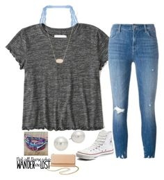 """""""Untitled #19"""" by aehello on Polyvore featuring Cosabella, Abercrombie & Fitch, J Brand, Converse, Kendra Scott, AK Anne Klein, Pura Vida and Charlotte Russe"""