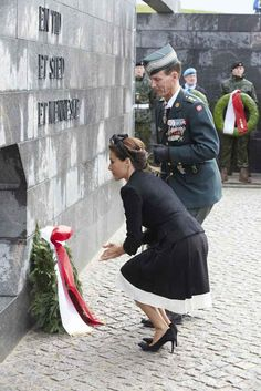 Royals & Fashion - Prince Joachim and Princess Marie attended flag day, honoring the Danish soldiers that died for their country.