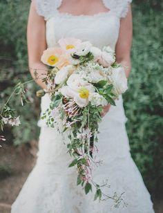 green wedding shoes | floral bouquet | wedding bouquet | cascading flowers | pastel colors | glam wedding ideas