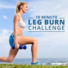 This 10 minute legs challenge will give you a workout and burn that'll leave your legs feeling stronger than ever. | Posted By: CustomWeightLossProgram.com
