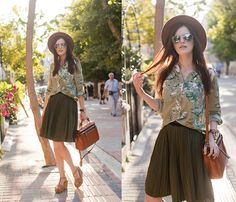 Modparade Blouse, Chic Wish Skirt, Black Five Bag, Asos Sandals, Zara Hat, Wholesale Celebshased Sunnies