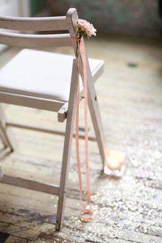 ribbon on aisle chair