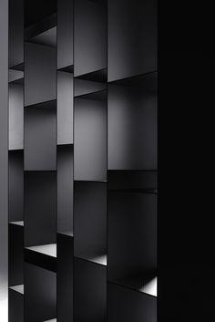 Carbon bookcase RANDOM 10TH ANNIVERSARY EDITION by MDF Italia | design Neuland Industriaedesign