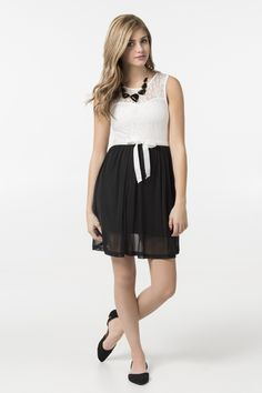 Get the latest trends in women's clothing at Ardene. Shop fashion tops, bottoms, dresses, and more in a variety of styles, fabrics and prints for all seasons. Prom Dresses, Formal Dresses, Dress Prom, White Lace, Black And White, Lace Top Dress, Cool Outfits, Fashion Outfits, Tank Dress