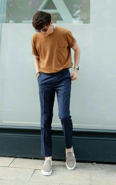 Ideas for glasses outfit style casual Korean Fashion Men, Fashion Mode, Trendy Fashion, Fashion Styles, Brown Fashion, Japanese Fashion Men, Street Fashion Men, Fashion Clothes, Mens Fashion 2018