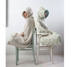 Cocoon by Boskas is a poncho that can be used inside as well as outside. We made them with cleverly crafted, customized zippers so you can zip yourself right in from top to bottom, if you feel like...