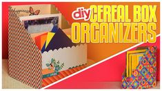 """http://bit.ly/sub2Gurl Do It, Gurl """"3 DIY Cereal Box Organizers"""" If you find you have papers and magazines scattered all over, these 3 DIY organizers can hel..."""