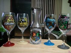 Harry Potter Wine Glass Set. Yes please! Haha.