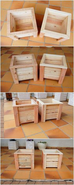 Dismantle the pallet planks and make it add up with the easy to build creation of the wood pallet planter boxes for your use. It definitely look awesome because simplicity flavors have been added out to be the part of it. Catch its designing and try it now!