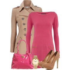 """Pink Sweater Dress"" by denise-schmeltzer on Polyvore"