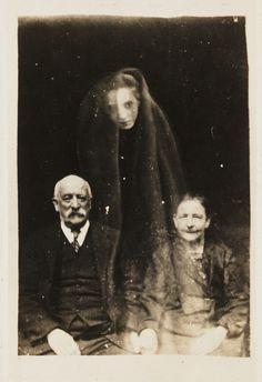 "antique photograph.... ""spirit"" photography...."