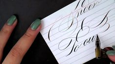 3. Pointed Pen Calligraphy 101: Paper, Ink and other supplies https://www.youtube.com/watch?v=4Al3AiMaQjM