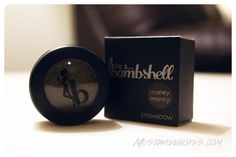 February 2013 Wantable.co Makeup Box: Be a Bombshell Eyeshadow in Money Money. This unique pigment blends dark metallic black with shimmery gold undertones. Price: $14.00/full size -- #beauty #wantable #makeup #beabomshell #eyeshadow #smokeyeye