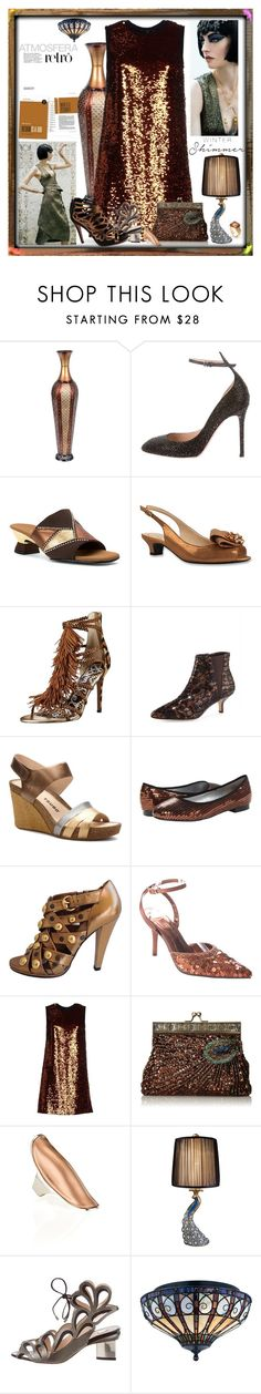 """""""Holiday Sparkle With The RealReal: Contest Entry"""" by yours-styling-best-friend ❤ liked on Polyvore featuring Valentino, Onex, J.Reneé, Donald J Pliner, Tsubo, ANNIE, Gucci, Stefani, Dolce&Gabbana and IaM by Ileana Makri"""