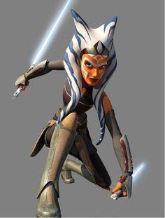 Ahsoka Tano, as seen as in Star Wars: Rebels. #Ahsoka lives!!!