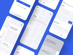 The perfect mobile wireframe kit built especially for Figma. Included are 7 cohesive mini-app experiences, each app includes 7 screens + 1 key screen. All common elements are converted into compone. Design Home App, App Ui Design, Mobile App Design, Mobile Web, Design Design, Co Animation, User Interface, Interface Design, Amazing Websites