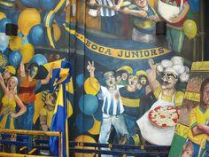 La Boca - street art - Soccer Art, Football Art, Graffiti, Street Art, Game, Painting, Beautiful, Painting Art, Gaming