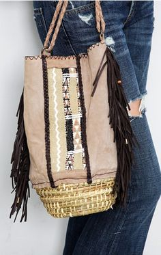 woven bucket bag - love it!