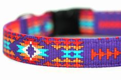 Native American dog collar  Navajo by FidosFashionCollars on Etsy, $22.95...chain matingale for our pulling lab