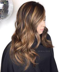 Long Layered Caramel Brown Hair