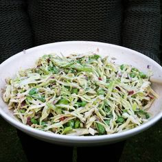 Cabbage and edamame salad
