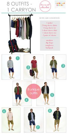 Vacation Special: How to Pack 8 Outfits in 1 Carryon