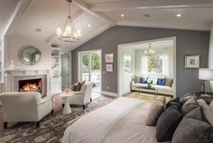 """""""View this Great Traditional Master Bedroom with Carpet & Cathedral ceiling in Studio City, CA. The home was built in 2016 and is 5210 square feet. Discover & browse thousands of other home design ideas on Zillow Digs."""""""