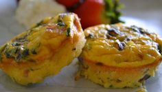 """These delicious mini crust-less """"quiches"""" are a quick and easy high-protein breakfast that can also be served as an appetizer or at brunch. It fits the criteria of many popular low-carb diet plans (including South Beach Phase 2/3, and maybe 1 with a little tweaking)."""