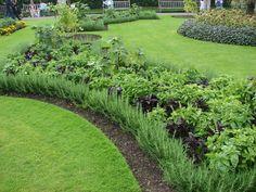 Paisajismo, pueblos y jardines: Casa de las Palmeras y sus Parterre exteriores. (The Palm House, Kew Gardens)