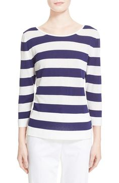 Max Mara 'Ordito' Stripe Cotton Sweater $329.98  #BestRevews #cute #WomensClothing