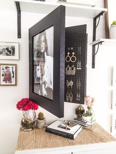Wall Mounted Jewelry Organizer Photo Frame
