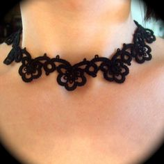 Tatted Lace Choker Necklace by TotusMel @ Etsy $28 #gothic #handmade #etsy