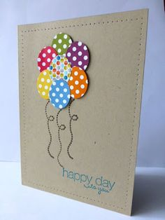 Balloons made with the Stampin' Up! small oval punch