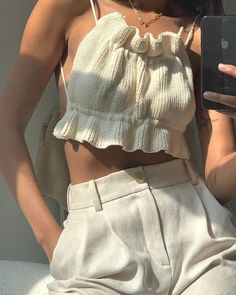 Aesthetic Fashion, Look Fashion, Aesthetic Clothes, Fashion Outfits, Fashion Design, Aesthetic Outfit, Summer Aesthetic, Crochet Clothes, Diy Clothes