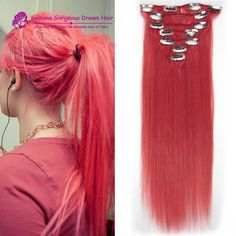 Pink Top-rated Clip In human Hair Extensions 100% virgin human Hair Clip in human Hairpiece 7pcs/set pink Full head set clip in //Price: $US $21.94 & FREE Shipping //   http://humanhairemporium.com/products/pink-top-rated-clip-in-human-hair-extensions-100-virgin-human-hair-clip-in-human-hairpiece-7pcsset-pink-full-head-set-clip-in/  #human_hair