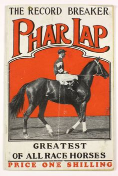 `The Record Breaker, Phar Lap, Greatest of all Race Horses', New Century Press, 1932