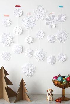 #DIY #paper #snow #stars