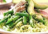 Couscous salade avocado tonijn