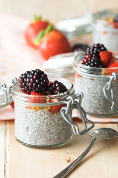 This is a super simple and adaptable recipe for overnight chia seed pudding. It's a two ingredient recipe that you can make in under 10 secs.