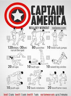 Super hero workout _Captain America